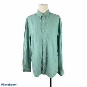 H&M Green Casual Button Down Long Sleeve Shirt